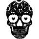 Sticcker tête de mort fleurie 2