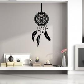 Sticker bouclier avec plumes