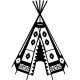 Sticker hutte indienne