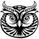 Sticker trophée tête de hibou