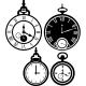 Sticker horloge rétroversé