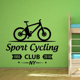 Sticker Sport cycling club NY