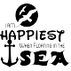 Sticker I am happiest when floating in the sea