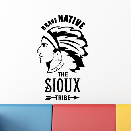 Sticker Brave native the sioux