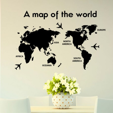 Sticker A map of the world