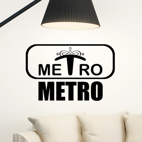 Sticker metro
