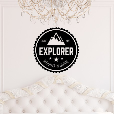 Sticker Explorer mountain guide
