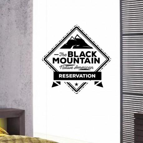 Sticker The black mountain