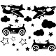 Sticker avions et voitures