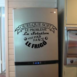 Sticker La solution n'est pas dans le frigo