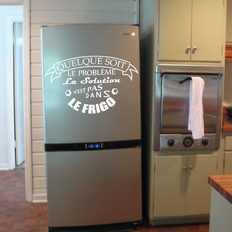 Sticker la solution n 39 est pas dans le frigo - Stickers frigo 2 portes ...