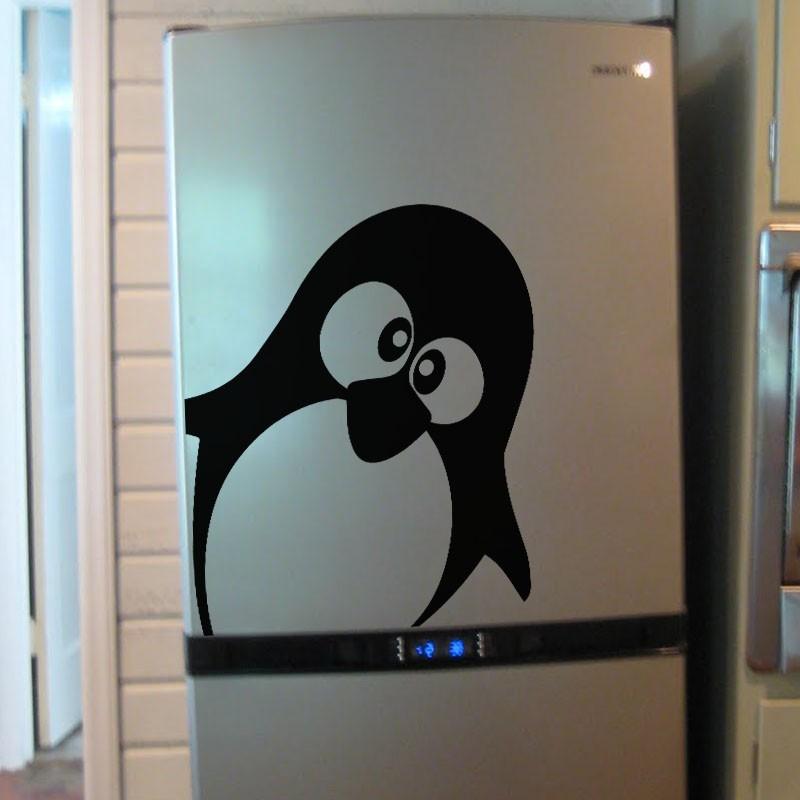 Sticker mignon pingouin for Decoration porte pingouin