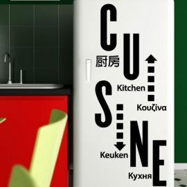 """Sticker déco """"cuisine"""" dans différentes langues"""