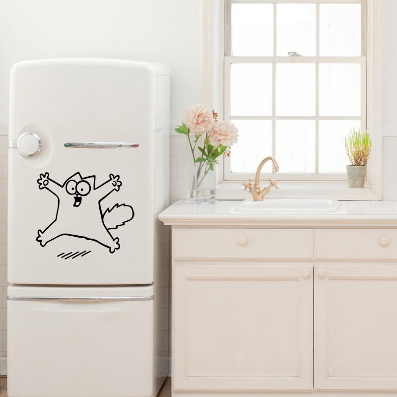 sticker pour frigo chat. Black Bedroom Furniture Sets. Home Design Ideas