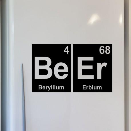 Sticker déco Bière en symboles chimique