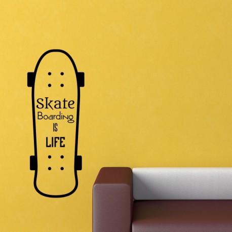 Sticker skate boarding is life