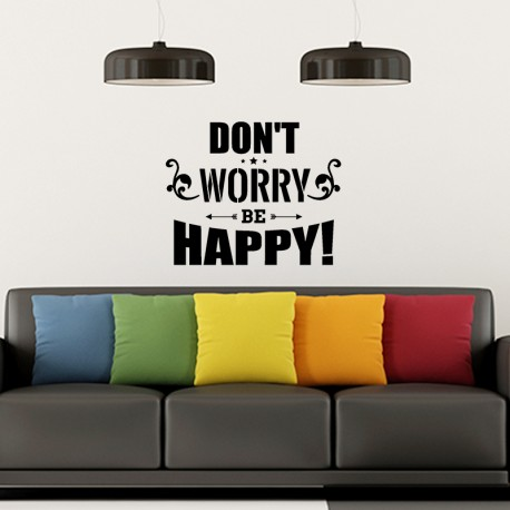 Sticker Don't worry be happy!