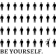 Sticker be yourself