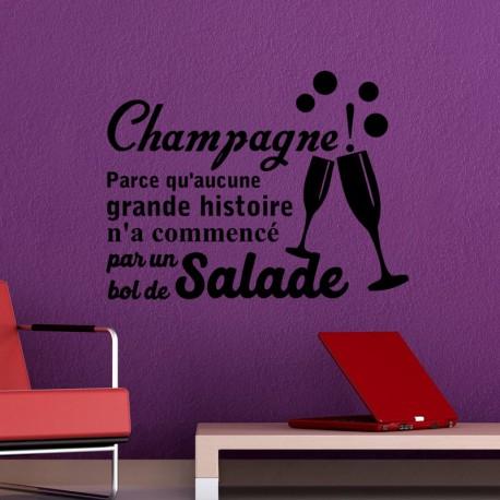 Sticker champagne!