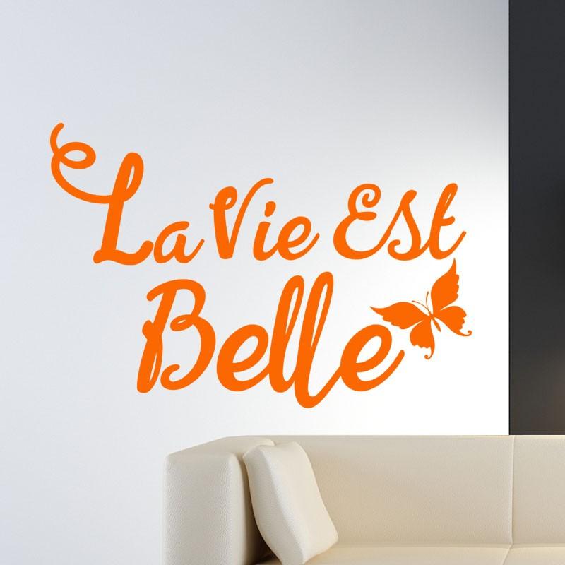 Chambre Garcon Sport : Sticker la vie est belle