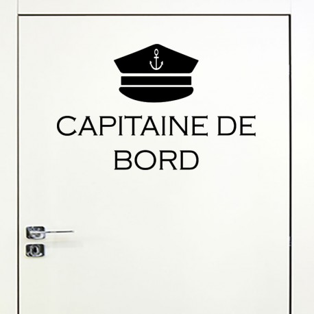 Sticker capitaine de bord