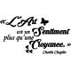 Sticker l'art selon Charlie chaplin