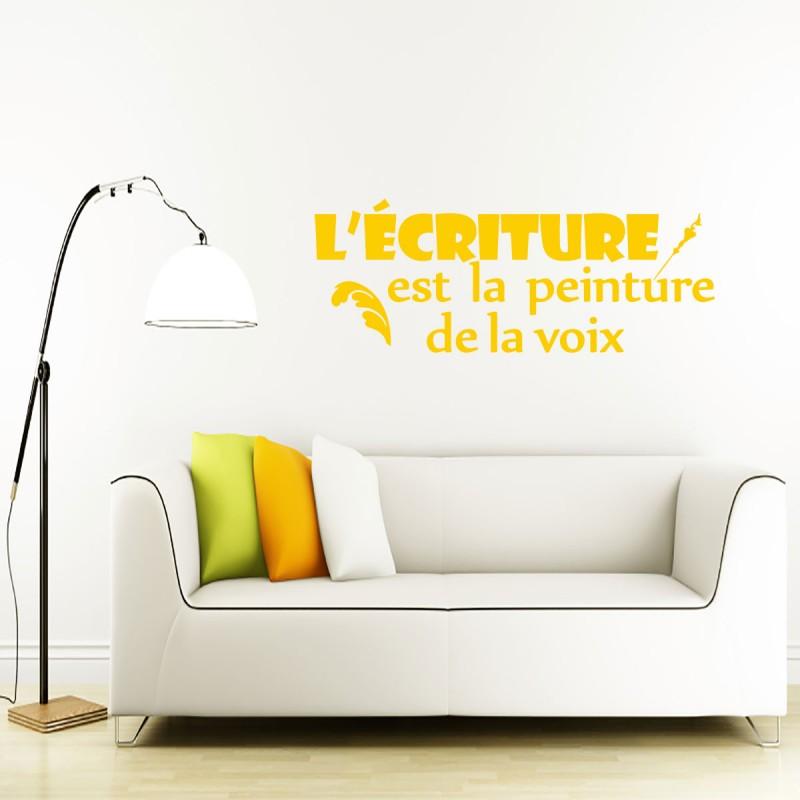 sticker l 39 criture est la peinture de la voix. Black Bedroom Furniture Sets. Home Design Ideas