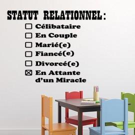 Sticker statut relationnel