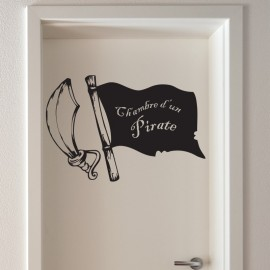 Sticker chambre d'un pirate