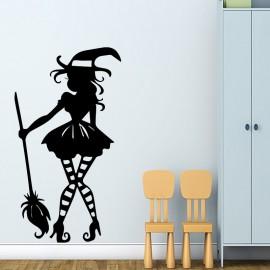 Sticker silhouette de sorcière