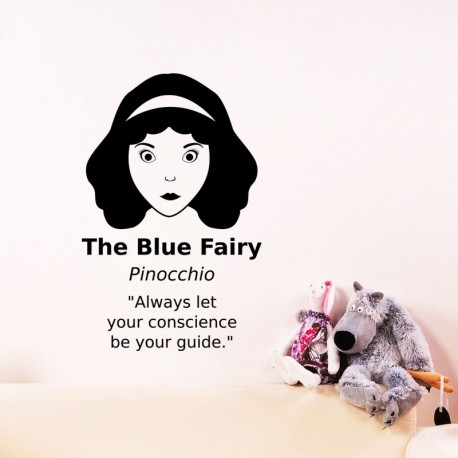 Sticker the blue fairy pinocchio