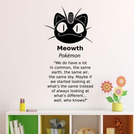 Sticker meowth pokémon