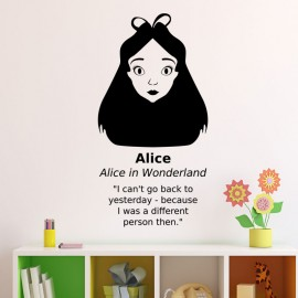 Sticker Alice dans Alice in wonderland