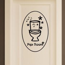 Sticker pipi room