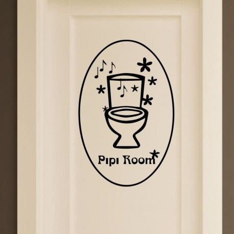 Sticker pipi room