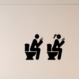 Sticker WC homme et femme