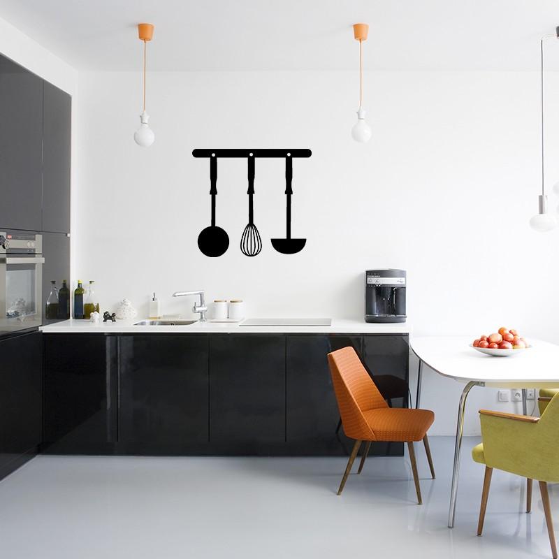 sticker ustensiles de cuisine. Black Bedroom Furniture Sets. Home Design Ideas
