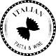 Sticker italian pasta é wine