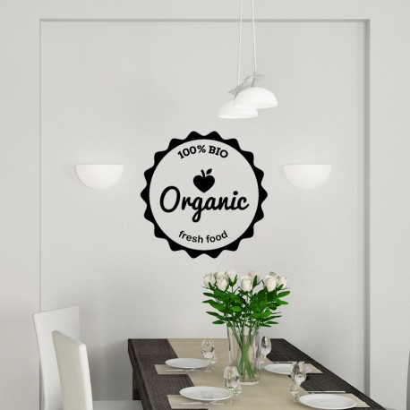 Sticker 100% bio organic fresh food