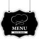 Sticker carte des menu