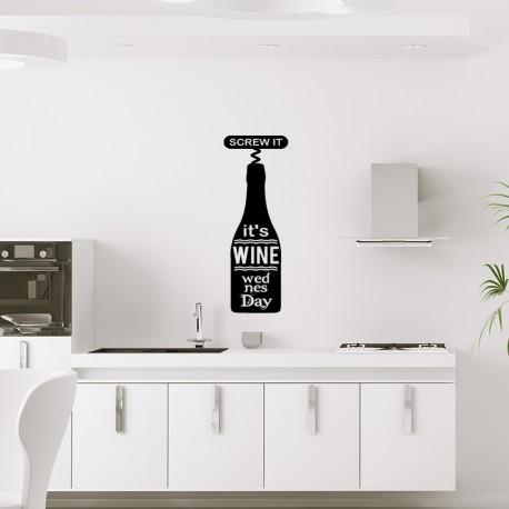 Sticker screw it, it's wine wedensday