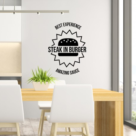 Sticker steak in burger