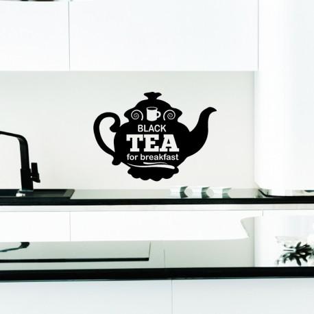 Sticker black tea for breakfast