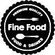 Sticker fine food