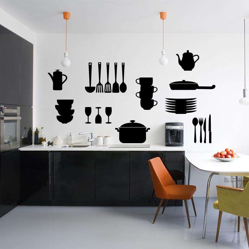 Sticker couvert et ustensiles de cuisine - Couverts de cuisine ...