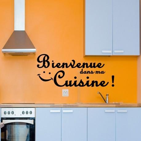Sticker bienvenue dans ma cuisine!