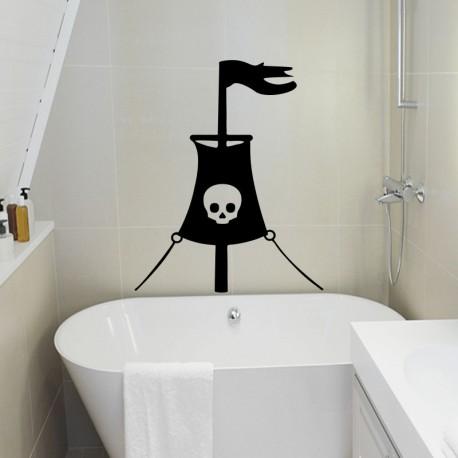Sticker drapeau de pirate