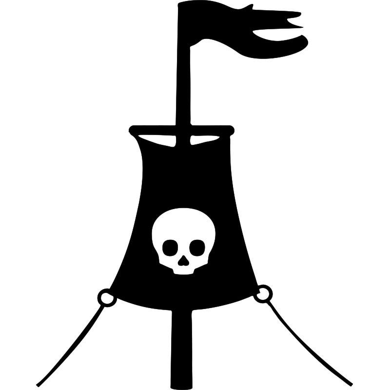 Deco Chambre Geek : Sticker drapeau de pirate