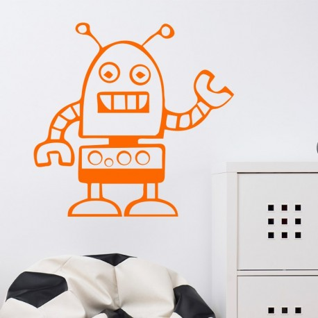 Sticker robot malheureux