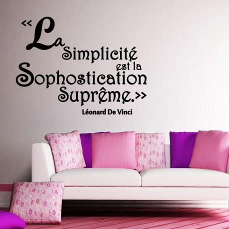 Sticker la simplicité est la sophostication suprême